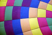 pic of flesh air  - colors of hot air balloon texture background horizontal copy space - JPG