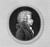 stock photo of mozart  - Wolfgang Amadeus Mozart  - JPG