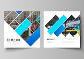 The Minimal Vector Illustration Layout Of Two Square Format Covers Design Templates For Brochure, Fl poster
