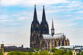 High Dynamic Range Hdr Cologne Cathedral In Cologne, Germany poster
