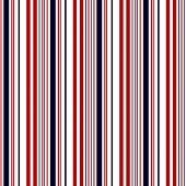 Stripe Pattern With Navy Blue, Red And White Colors Vertical Parallel Stripes.vector Stripe Pattern  poster