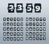 Time Numbers. Flip Clock Template Countdown Vector Template. Illustration Number Mechanism, Digit An poster
