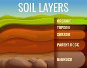 Soil Ground Land Infographic. Cartoon Of Soil Ground Land Vector Infographic For Web Design poster