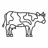 Diary Cow Icon. Outline Diary Cow Vector Icon For Web Design Isolated On White Background poster