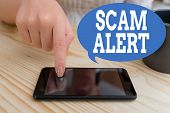 Text Sign Showing Scam Alert. Conceptual Photo Unsolicited Email That Claims The Prospect Of A Barga poster