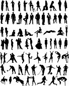 pic of person silhouette  - Plenty of different black vector people silhouettes - JPG