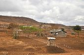 stock photo of mud-hut  - Church in Masai village Tanzania - JPG