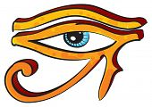 stock photo of horus  - Eye of Horus - JPG