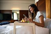 Sexy Girl Enjoying Herself In A Hotel Room poster