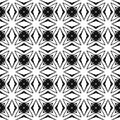Black And White Geometric Seamless Pattern. Hand Drawn Watercolor Ornament. Bewitching Repeating Des poster