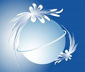 foto of bordure  - Blue abstract background with sphere - JPG