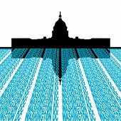 pic of capitol building  - Capitol Building with washington DC text foreground illustration - JPG