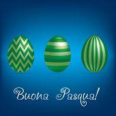 foto of pasqua  - Bright easter egg card in vector format - JPG