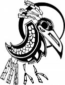 stock photo of tlingit  - Raven rendered in Northwest Coast Native Style - JPG