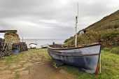 Boats At Penberth Cove In Cornwall