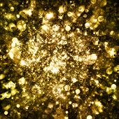 foto of gold-dust  - Gold sparkle glitter background - JPG