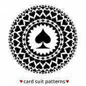 stock photo of ace spades  - Fine card suit pattern made from spades - JPG