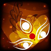 stock photo of navratri  - easy to edit vector illustration Happy Durga Puja - JPG