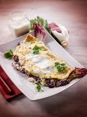 image of chicory  - crepes with chicory and cheese - JPG