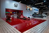 ANAHEIM, CA - OCTOBER 3: A Honda Indy race car on display at the Orange County International Auto Sh