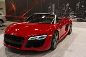 ANAHEIM, CA - OCTOBER 3: An Audi R8 V10 Spyder on display at the Orange County International Auto Sh