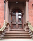 stock photo of entryway  - Classic Brooklyn Heights entryway - JPG