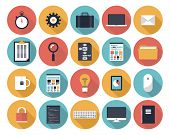 stock photo of isolator  - Modern flat icons vector collection with long shadow effect in stylish colors of web design objects interface elements business and office items - JPG