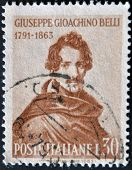 Italy - Circa 1963: A Stamp Printed In Italy Shows Giuseppe Giochino Belli, Circa 1963