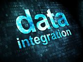 Information concept: Data Integration on digital background