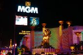 MGM Grand Sign And Lion
