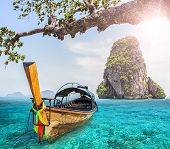 stock photo of nic  - Railay beach in Krabi in Thailand nature - JPG