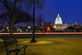 stock photo of night-blooming  - Capitol building at night  - JPG