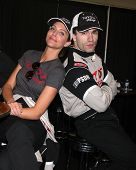 LOS ANGELES - MAR 15:  Tricia Helfer, Sam Witwer at the Toyota Grand Prix of Long Beach Pro-Celebrit