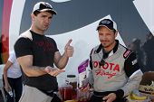 LOS ANGELES - MAR 15:  Sam Witwer, Nick Wechsler at the Toyota Grand Prix of Long Beach Pro-Celebrit