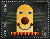 A stamp printed in Portugal (azores islands) dedicated to Circus