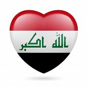 picture of iraq  - Heart with Iraqi flag colors - JPG