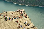The Preikestolen in Norway