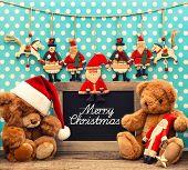 picture of nostalgic  - nostalgic home christmas decoration with antique toys - JPG