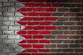 picture of bahrain  - Dark brick wall texture  - JPG
