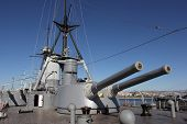 foto of battleship  - Averof is a Greek warship which served as the flagship of the Royal Hellenic Navy during most of the first half of the 20th Century - JPG