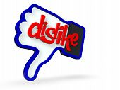 picture of dislike  - An XXXL Large 3d render of a social media symbol with the word  - JPG
