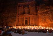 stock photo of treasury  - Al Khazneh in Petra Jordan - JPG