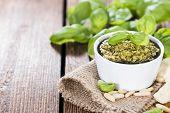 image of pesto sauce  - Homemade Pesto Sauce  - JPG