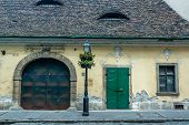 picture of hungarian  - An ancient building in the Hungarian  - JPG