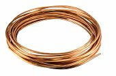 pic of copper  - The copper tubing isolate on white background