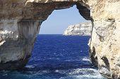 foto of gozo  - famous stone arch of Gozo island Azure Window - JPG