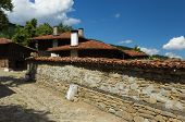image of old stone fence  - Old building made  - JPG
