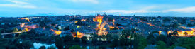 stock photo of poitiers  - Panoramic view of Poitiers at a summer night - JPG