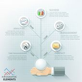 picture of step-up  - Business hand infographic options template - JPG