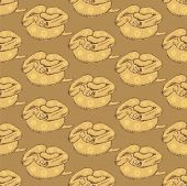 picture of anaconda  - Sketch hipster anaconda in vintage style vector seamless pattern - JPG